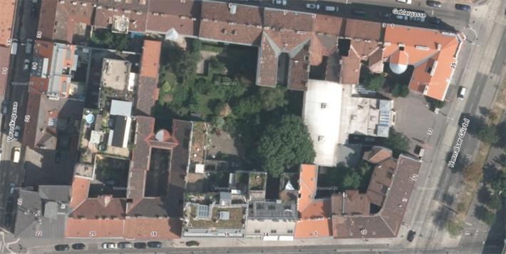 """Luftbild des """"smart block II"""" in Wien 1170"""